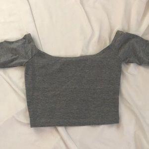 American apparel off the shoulder crop top